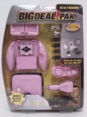 12 in 1 Big Deal Pak (pink) for GBA SP - Game Accessory - New