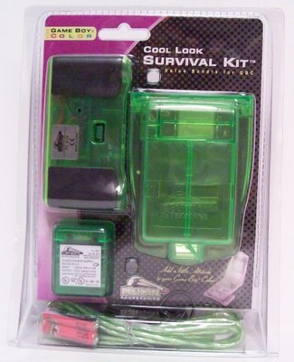 Cool Look Survival Kit for Game Boy Color (green) - Game Accessory - New
