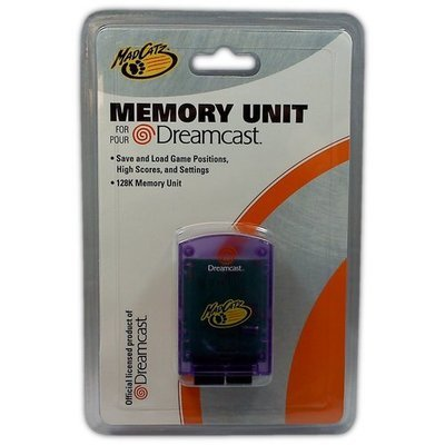 MadCatz Memory Unit for Dreamcast (Purple) - Game Accessory - New