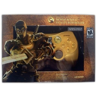 Mortal Kombat Fatality Kontroller (Scorpion) for PS2 - Game Accessory - New