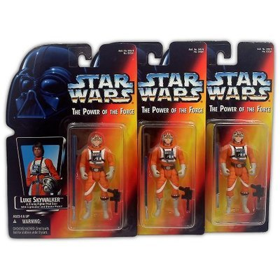 Star Wars Power of the Force Luke Skywalker in X-Wing Fighter Pilot Gear Set (all three variants)  - Action Figure - New