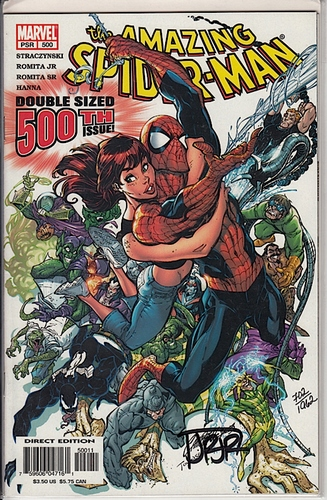 Amazing Spider-Man #500 Near Mint - Comics - Used SIGNED WITH COA
