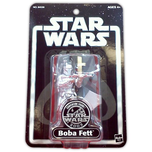 Star Wars Silver Anniversary Boba Fett Action Figure 2003 SDCC Exclusive - Action Figure - New