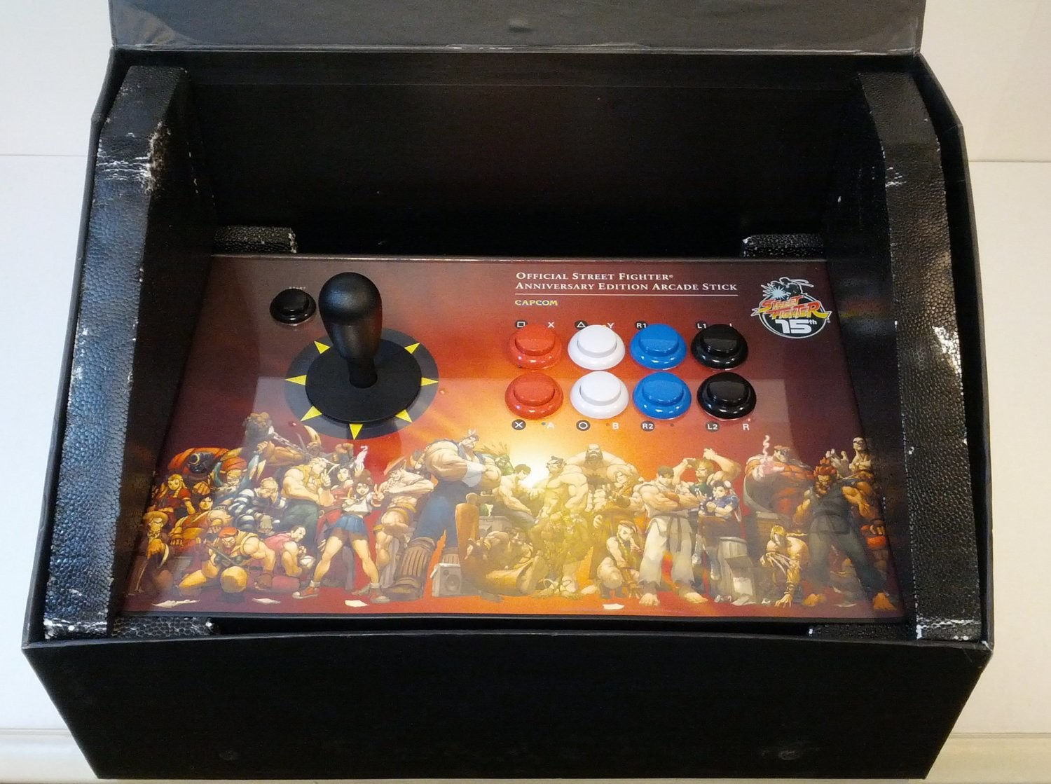 Street Fighter Anniversary Edition Arcade Stick for PS2 & Xbox - Game Accessory - Used