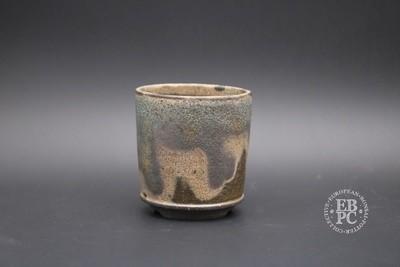 Sabine Besnard - 8.2cm; Glazed; Green; Brown; Round; Rustic