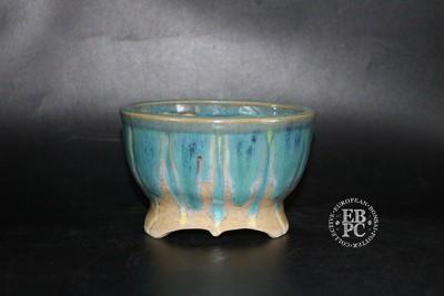 Pierre Rousseau - 12.4cm; Glazed; Round; Blues; Reds;