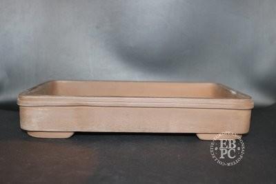 Mirt Pots - 31cm; Unglazed; Rectangle; Light Brown Clay;