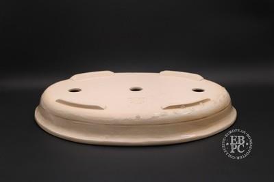Mirt Pots - 46.2cm; Glazed; Oval; Cream; Drippy Crackle Glaze;