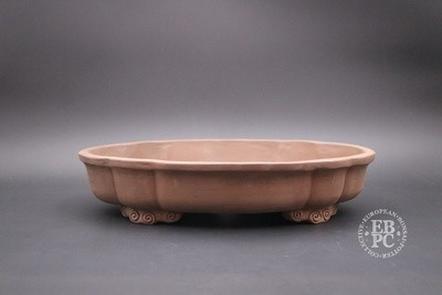 Mirt Pots - 37.2cm; Unglazed; Mokko; Light Brown Clay; Delicate Feet