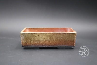 Englert Keramik - 18.5cm; Rectangle; Wood-fired; Rustic; Browns; Cream; Red; Martin Englert