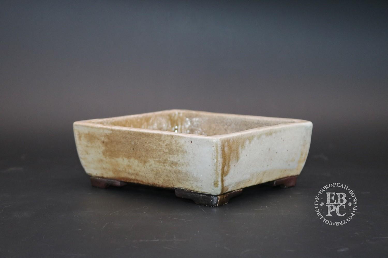 Englert Keramik - 15.5cm; Rectangle; Wood-fired; Rustic; White; Cream; Browns; Martin Englert