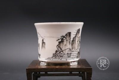 Englert Keramik - 10.3cm; Porcelain; Painted; Shohin, Round, Semi-cascade; Martin Englert