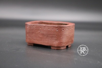 Carina Jern - 8.2cm Mame; Accent; Kusamono; Unglazed; Red-brown;