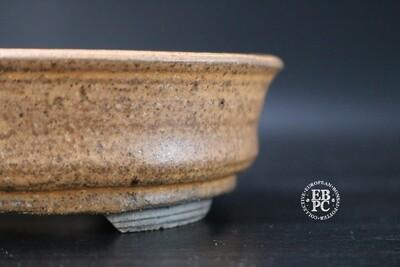 EBL Pots - 13.2cm; shohin; oval; brown / l. orange; etched details