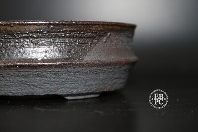 EBL Pots - 13.4cm; Shohin; Oval; Brown; Charcoal; Reddy brown