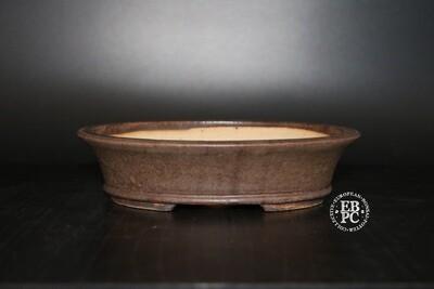 Walsall Studio Ceramics - 15.5cm; Deep Oval; Glazed; Browns; Glazed