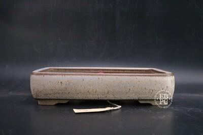 Roman Husmann - 26.4cm; Glazed; Rectangle; Browns; Cream;