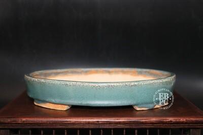 SOLD - Guerao Pot; 23cm; Glazed; Oval; Shohin; Guerao