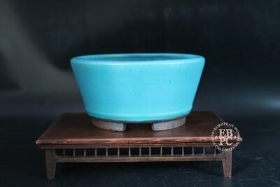 Ian Baillie - 20.5cm; Stunning Glaze; S/Cascade; Turquoise / L. Blue;