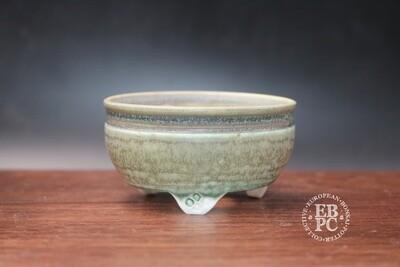 EBL Pots - 7.6cm; Porcelain; Round; Accent pot; Pastel tones; Green; Blue; Detailed feet; Elsebeth Ludwigsen