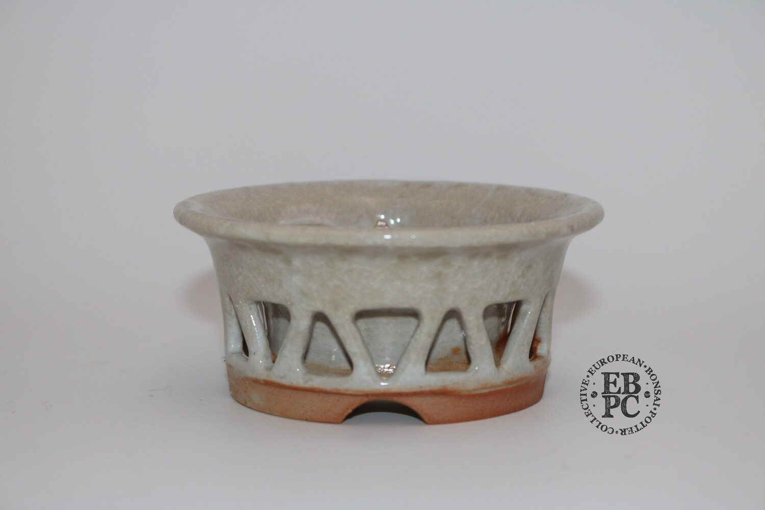 SOLD - Gramming Pots - 9.5cm; Double Skin' Design; Glazed; Stunning crackle glaze; Wood-fired; Tomas Gramming