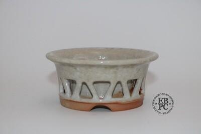 SOLD - Gramming Pots - 9.5cm; Double Skin' Design; Glazed; Stunning crackle glaze; Wood-fired; Tomas Gramming