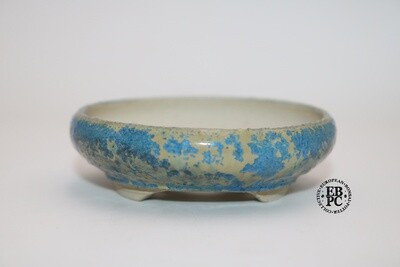 RESERVED - PAS Pots - 7.4cm  Round; Hand Thrown; Blue Micro-Crystalline Glaze; Detailed foot ring; Patricia