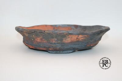 RESERVED - Bryan Albright - 30.7cm; Round; Nanban; Unglazed; Oxide Wash; Browns, Reds; Greys