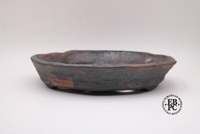 Bryan Albright - 31.2cm; Round; Nanban; Unglazed; Oxide Wash; Browns, Reds; Greys