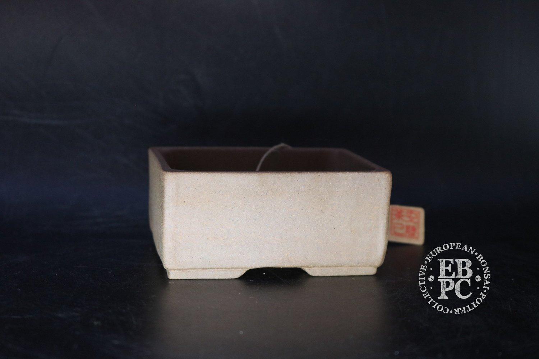 Amdouni Bonsai Pots - cm; unglazed; shohin; rectangle; Light brown clay; Sami Amdouni