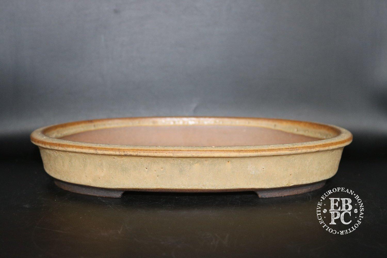 SOLD - Walsall Studio Ceramics - 30.7cm; glazed; oval; harvest