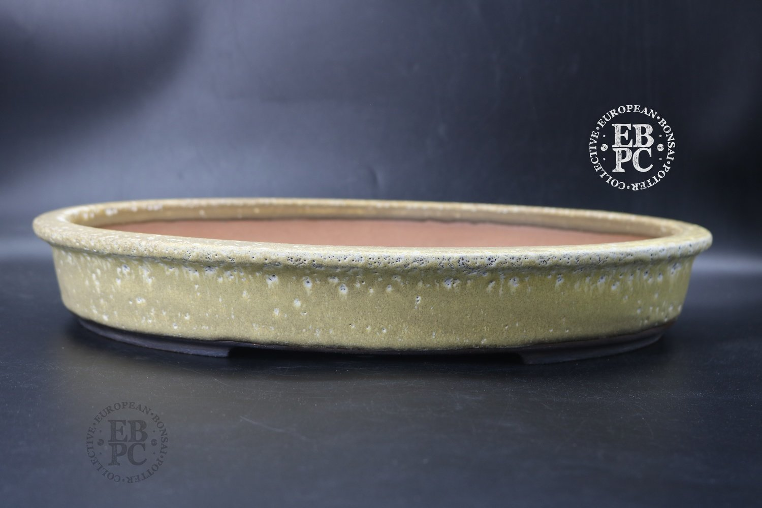 SOLD - WSC - Esther Griffiths - 38cm; Glazed; Oval; Antique Cream; Aged look
