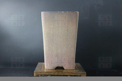 China Mist - European; unglazed; square cascade; shohin; brown;
