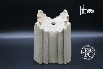 Holvila -  'Gotham'; 15cm; unglazed; stone grey; cascade; shohin;
