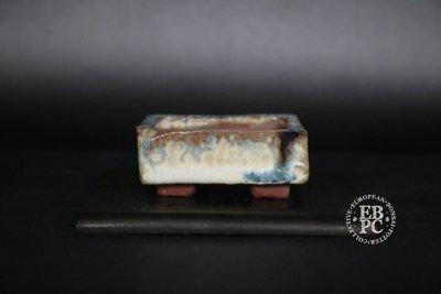Holvila - 'Ice Crystals'; MAME; 5.1cm; Glazed; Rectangle; White; Blue; Brown; Thor Holvila