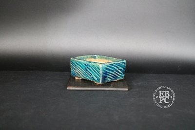 Holvila - 'Turquoise'; MAME'; 6.6cm; Glazed; Imprint pattern; Rectangle; Green; Turquoise; Thor Holvila