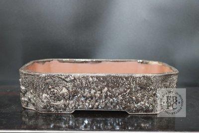 M.B. Bonsaischalen - 27cm; European; rectangle; glazed; textured; brown