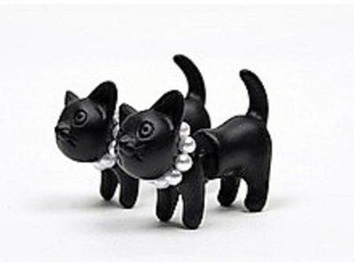 3D Black Cat Earrings