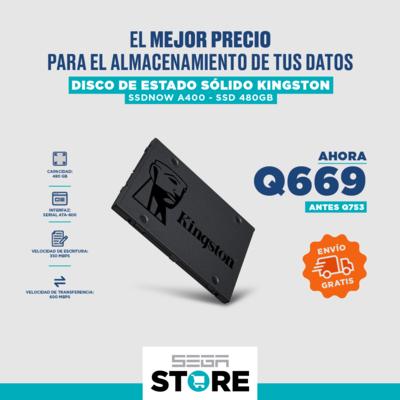 Oferta de unidad en estado sólido SSD Kingston A400 - Capacidad 480 GB