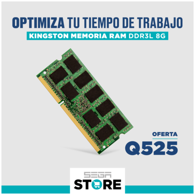 Memoria RAM 8GB Kingston ValueRAM - DD3L - 8 GB