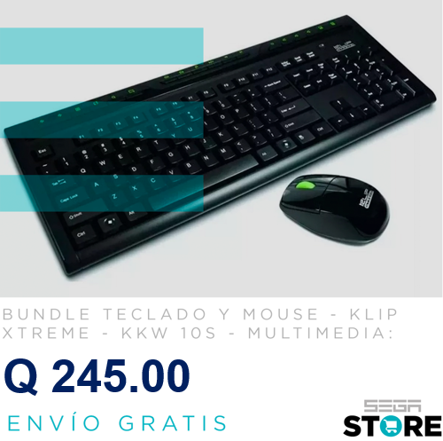 Combo teclado y mouse Klip Xtreme KKW 10s