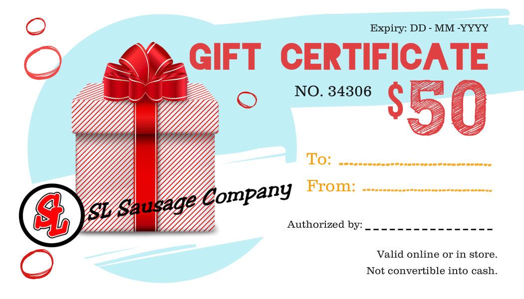 Gift Card $50 00005
