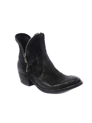 Modern Western inspired Black Ankle boot