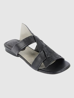 Ixos Black Leather Sandal