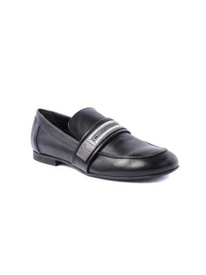 Elena Iachi Moccasin in black Calf leather