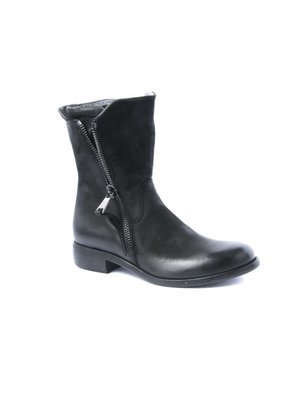 Elena Iachi Biker inspired Ankle boot Double side Zip