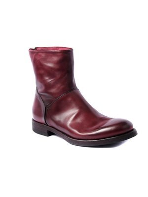 Pantanetti Ankle boot beautifully hand-dyed leather Burgundy