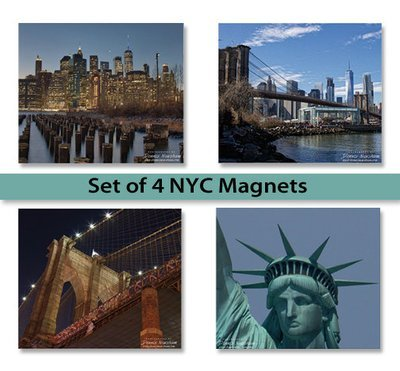 New York City Magnets Set of 4 (3' x 3.5