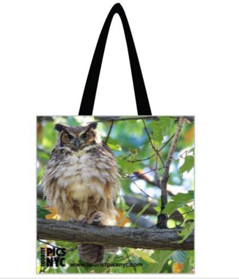 Horned Owl Tote Bag 16 x 16