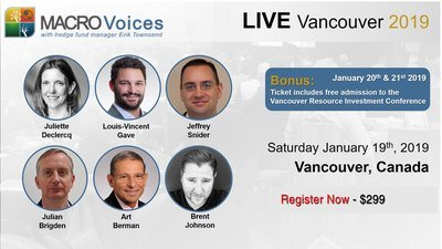 MacroVoices LIVE Vancouver, BC Canada Jan. 19th, 2019 VCBC001